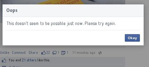 Facebook Oops