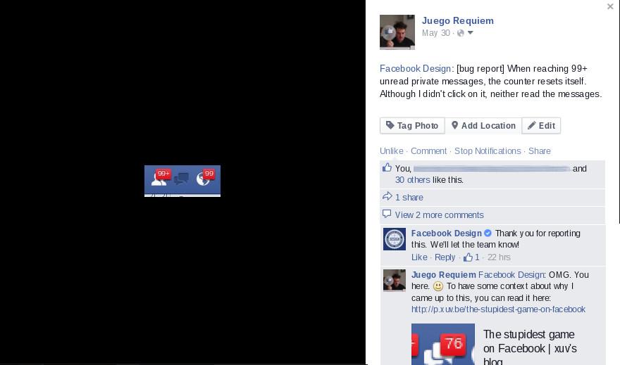 Facebook design response