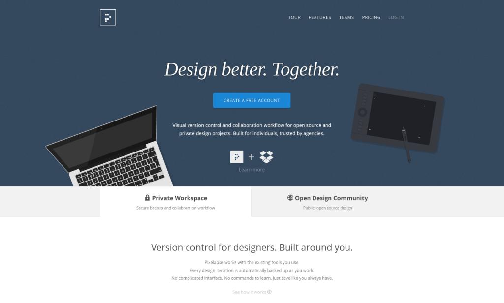 Pixelapse Homepage