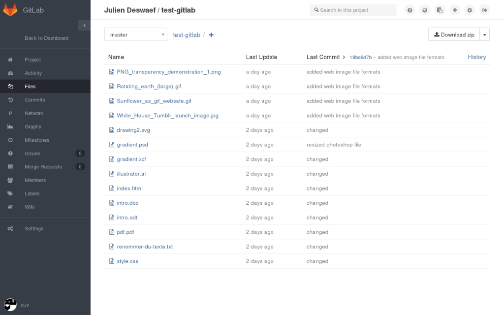 Gitlab file viewer