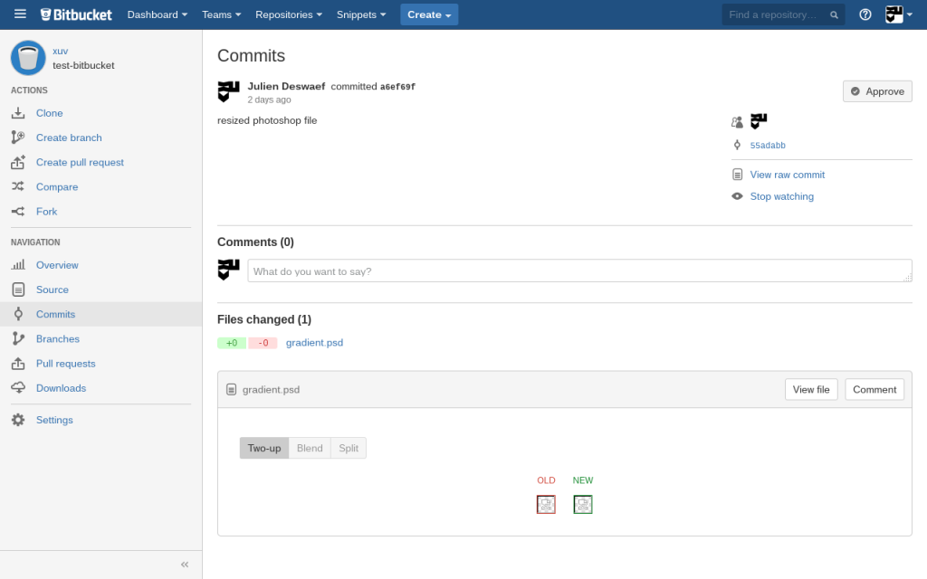 Bitbucket psd diff preview broken