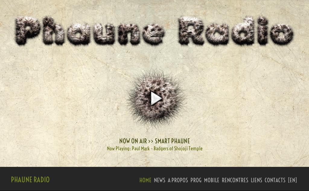 Phaune Radio homepage