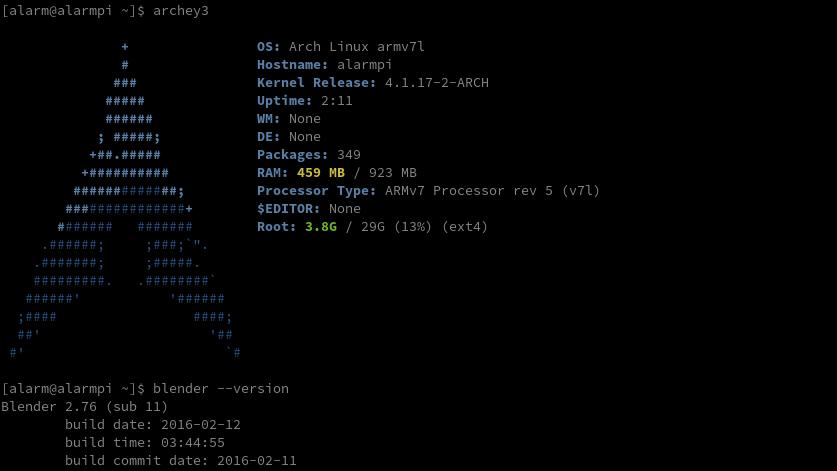 Arch Linux Arm - RPi2