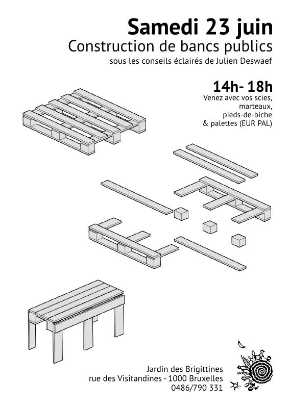 23 juin fabrication de bancs publics open source xuv. Black Bedroom Furniture Sets. Home Design Ideas